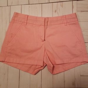 NWOT Pink J. Crew Shorts Size 0